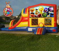 Sesame Street Module 5 in 1 Waterslide Bouncehouse Combo